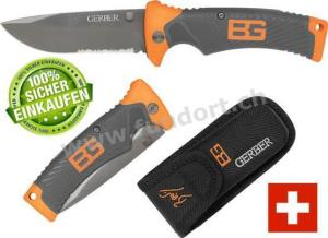 Gerber Bear Grylls Folding Sheath Knife Klappmesser Survival Messer Camping TV bekannt DMAX